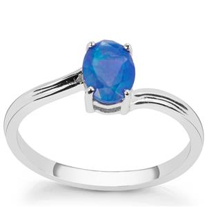Ethiopian Blue Opal Ring in Sterling Silver 0.50ct