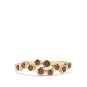 1/3ct Red Diamond 9K Gold Ring