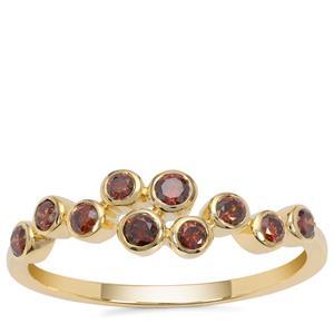 Red Diamond Ring in 9K Gold 0.34ct
