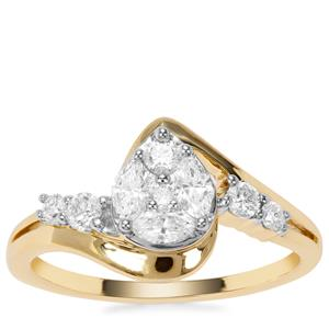 Diamond Ring in 18K Gold 0.51ct