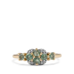 Alexandrite & Diamond 10K Gold Ring ATGW 0.65cts