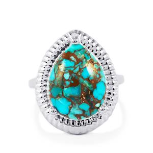 Egyptian Turquoise Ring  in Sterling Silver 7.45cts