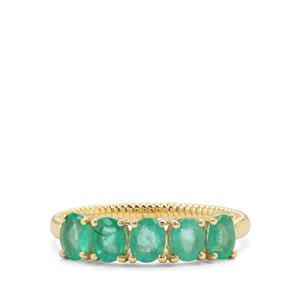 1.22ct Colombian Emerald 9K Gold Ring