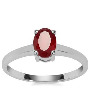 Malagasy Ruby Ring in Sterling Silver 1.22cts (F)