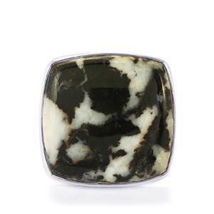 39.00ct Zebra Jasper Sterling Silver Aryonna Ring