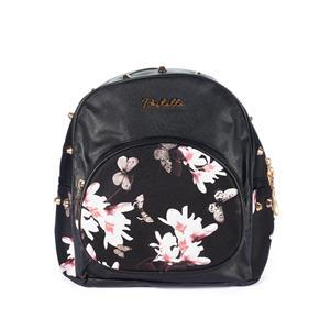 Destello Butterfly Print Black Backpack