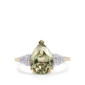 Csarite® Ring with Diamond in 18K Gold 2.98cts
