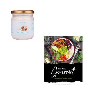 Cold Pressed Coconut Oil & Primal Gourmet Recipe Book