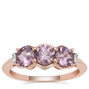 Mahenge Purple Spinel Ring with White Zircon in 9K Rose Gold 1.80cts