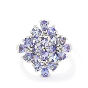 3.24ct Tanzanite Sterling Silver Ring