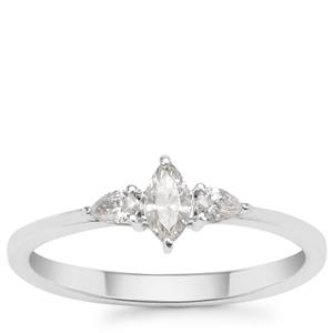 Diamond Ring in 18K White Gold 0.31cts