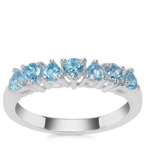 Swiss Blue Topaz Ring in Sterling Silver 0.78ct