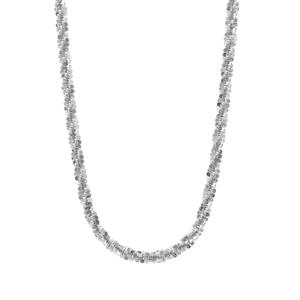 "18"" Sterling Silver Couture Criss Cross Chain 3.55g"