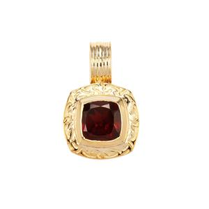 Octavian Garnet Romulus Pendant in Gold Plated Sterling Silver 1.81cts