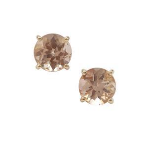Oregon Peach Sunstone Earrings in 9K Gold 1.55cts