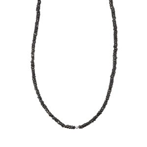 Black Spinel Graduated Bead Necklace 250cts