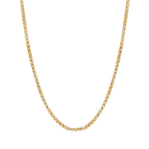 "30"" Midas Tempo Diamond Cut Round Box Chain 2.80g"