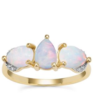 Kelayi Opal Ring with Diamond in 9K Gold 1.46cts