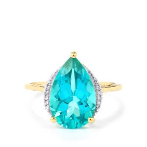Batalha Topaz Ring with White Zircon in 9K Gold 4.90cts