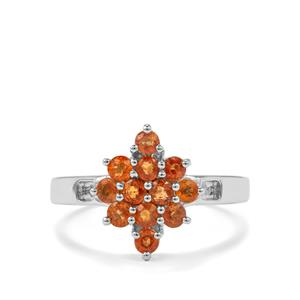 1.03ct Songea Sunset Sapphire Sterling Silver Ring