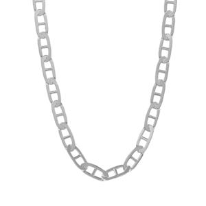 "22"" Sterling Silver Tempo Fancy Mariner Chain 3.14g"