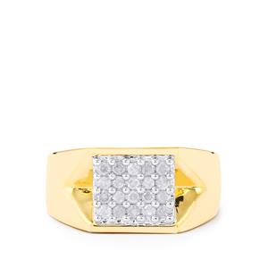 Diamond Ring in Gold Plated Sterling Silver 0.50ct