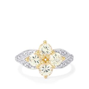 Ceylon White Sapphire Ring in 10K Gold 1.55cts