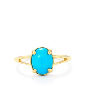 Sleeping Beauty Turquoise Ring in 9K Gold 1.74cts