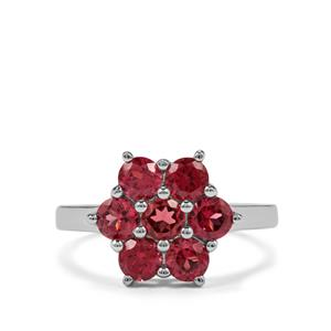 2.19ct Rajasthan Garnet Sterling Silver Ring