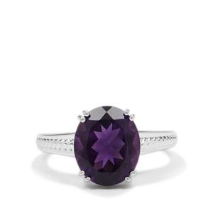 Zambian Amethyst Ring in Sterling Silver 4.10cts
