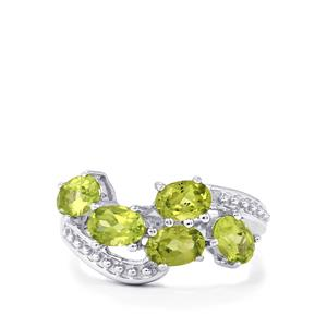 2.37ct Changbai Peridot Sterling Silver Ring