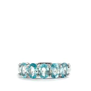Ratanakiri Blue Zircon Ring in Sterling Silver 3.32cts