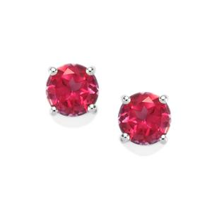 1.95ct Mystic Pink Topaz Sterling Silver Earrings