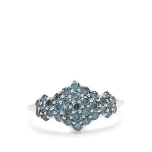 Blue Diamond Ring in 9K White Gold 1.10cts