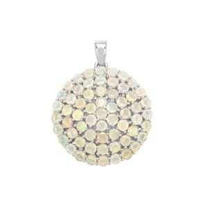 Ethiopian Opal Pendant in Sterling Silver 4.27cts