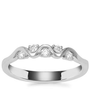 Diamond Ring in Platinum 950 0.16ct