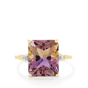 Anahi Ametrine Ring with Diamond in 10k Gold 5.26cts