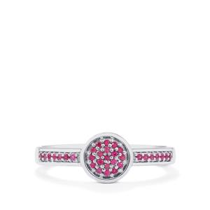 0.14ct Burmese Ruby Sterling Silver Ring