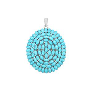 15.11ct Sleeping Beauty Turquoise Sterling Silver Pendant