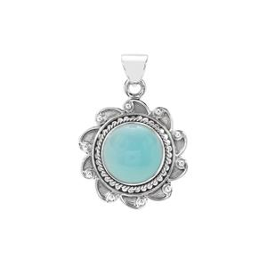 Aqua Chalcedony Pendant in Sterling Silver 9.50cts