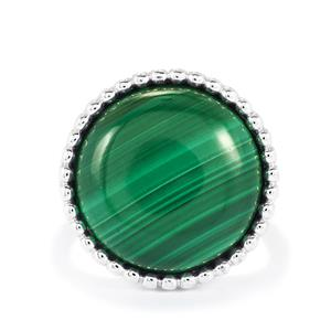 Malachite Ring in Sterling Silver 19.71cts