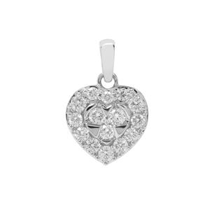 Canadian Diamond Pendant in Platinum 950 0.51ct