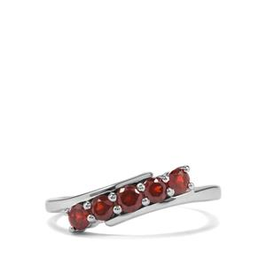 Nampula Garnet Ring in Sterling Silver 0.76ct