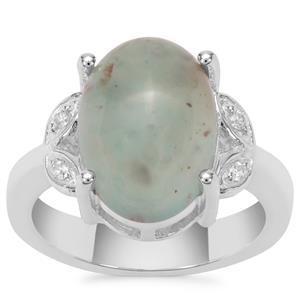 Aquaprase™ Ring with White Zircon in Sterling Silver 5.69cts