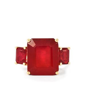 Malagasy Ruby Ring in 9K Gold 12.74cts (F)