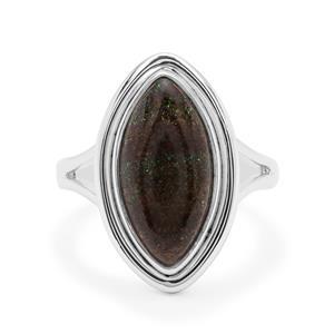 3.50ct Andamooka Opal Sterling Silver Aryonna Ring