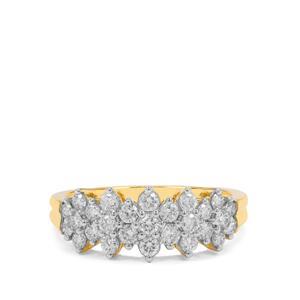 Diamond Ring in 18K Gold 0.75ct