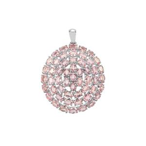 Sakaraha Pink Sapphire Pendant in Sterling Silver 12.46cts