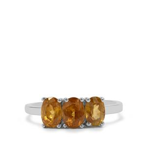 Morafeno Sphene Ring in Sterling Silver 1.84cts