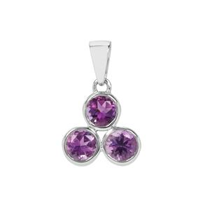 Moroccan Amethyst Pendant in Sterling Silver 1.12cts